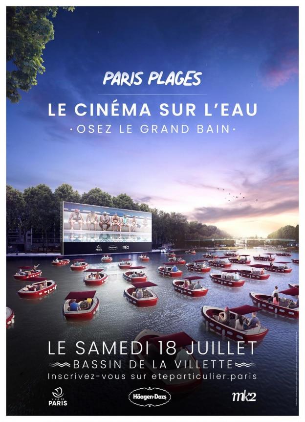 paris plages cinema eau la villette bateaux boat in mk2 la villette le grand bain 2020 paris été